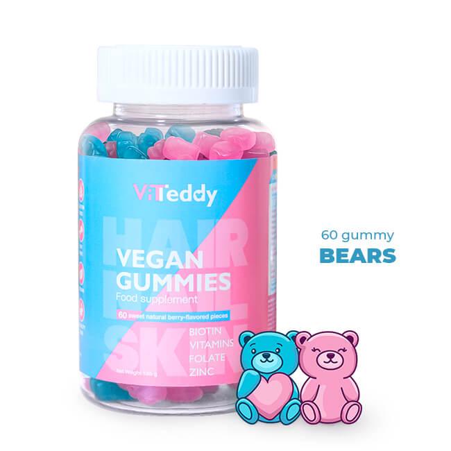 ViTeddy™ Hair Gummy Vitamini z vegansko formulo Mnenje, Cena, Komentarji, Odzivi